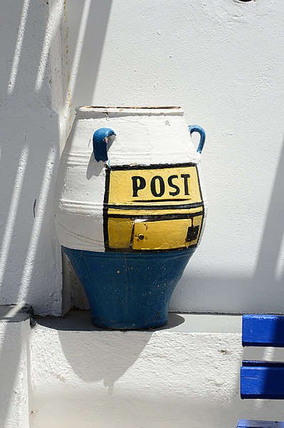 Santorini Post box by MikeGoffin