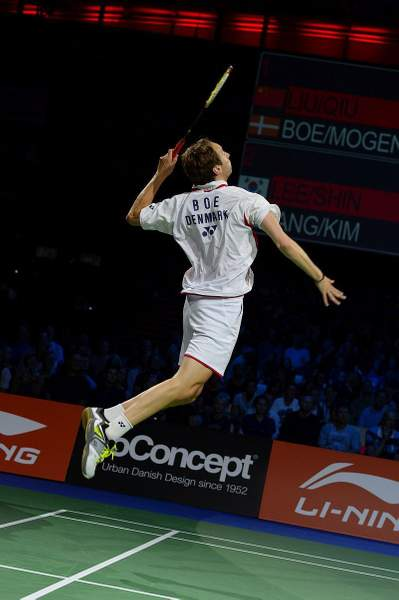 Mathias Boe in flight