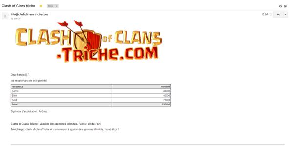 Clash Of Clans Gemmes Gratuit