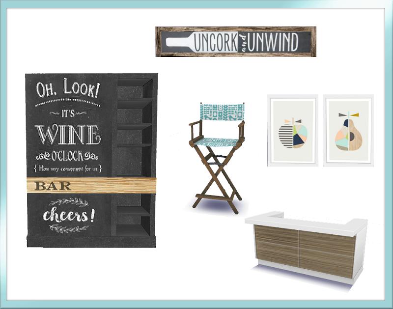 TS4: Wine O'Clock Dining Set Wine_O_clock_Includes