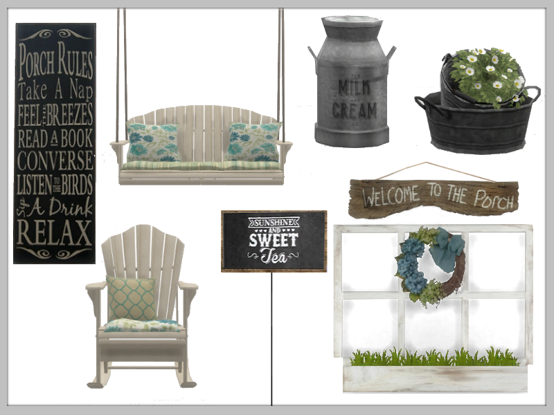 TS4: Sweet Tea Porch Set Sweet_Tea_Includes