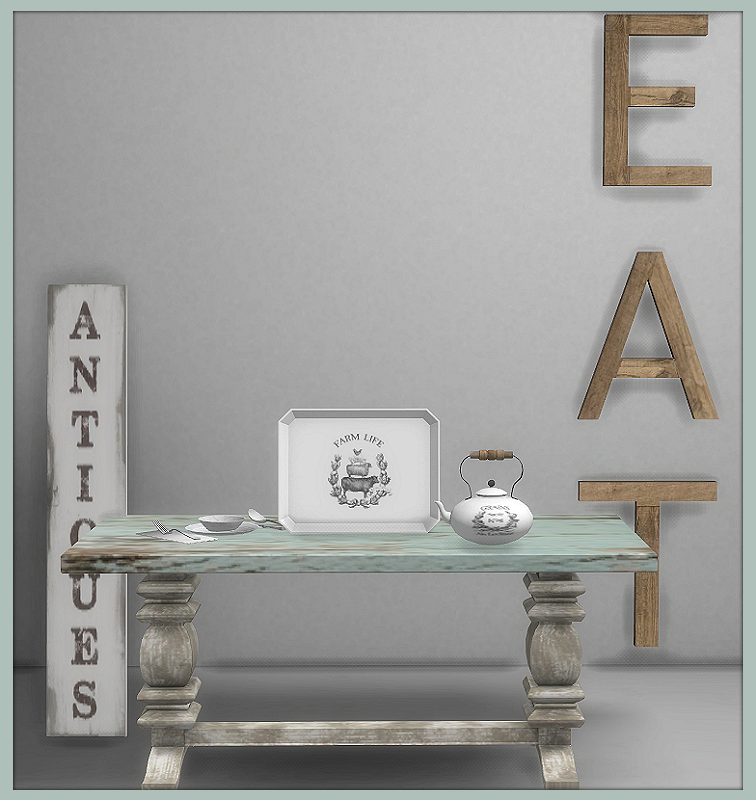 TS4: Farmhouse Chic Dining Room Farmhouse_Chic_Includes_5