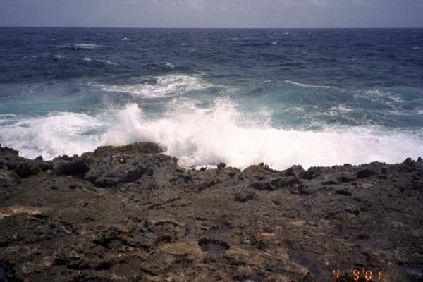 Waves on the windward side