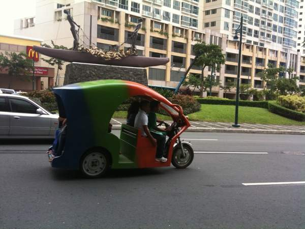 Tricycles are essential transportation in Manila