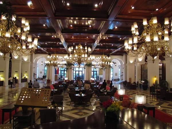 The lobby of the Manila Hotel
