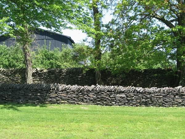 Hand built stone wall
