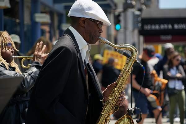 Jazz Man on Sax
