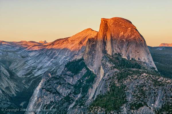 Sunset over Half Dome from Glacier Point | Yosemite National Park, CA | September, 2014