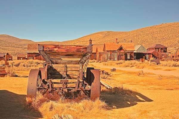 Dan Blackburn Remains of Old Wagon, Bodie Ghost Town, California 0911_411 copy