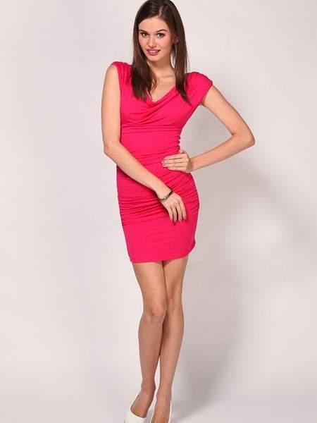 Alcott Fuchsia Short Pencil Dress
