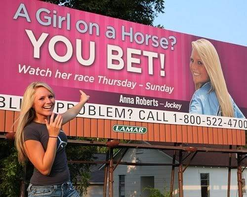 Anna Roberts...cool billboard huh?