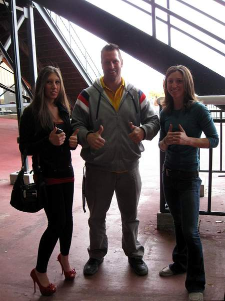 Lexi and Kristina and some guy in the middle