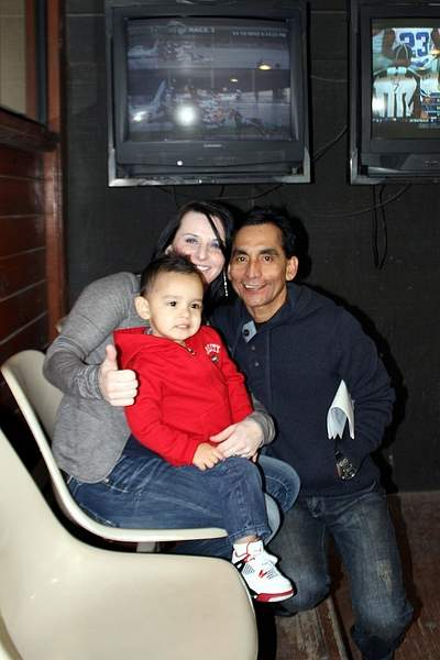 Joanne Mcdaid and Jose Flores and their little boy