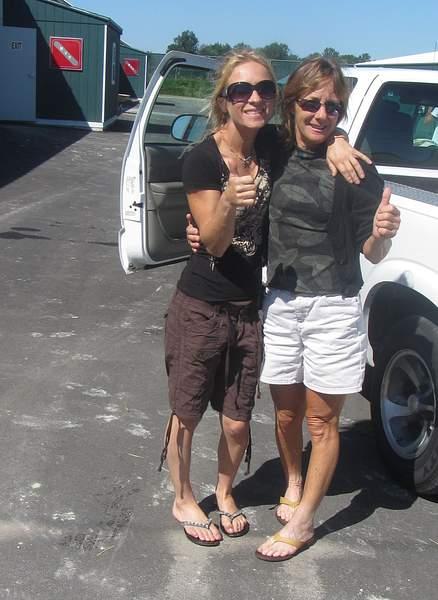 Jessica Rice and her mom