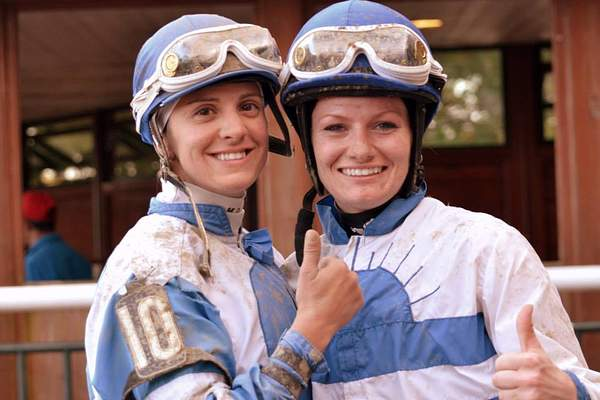 Maria and Amanda Marie after her 1st race ever