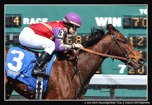 Jockey Amanda Tamburello by Chris Forbes