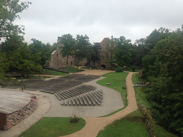 Sigulda. The castle's ruins. by Clarissa
