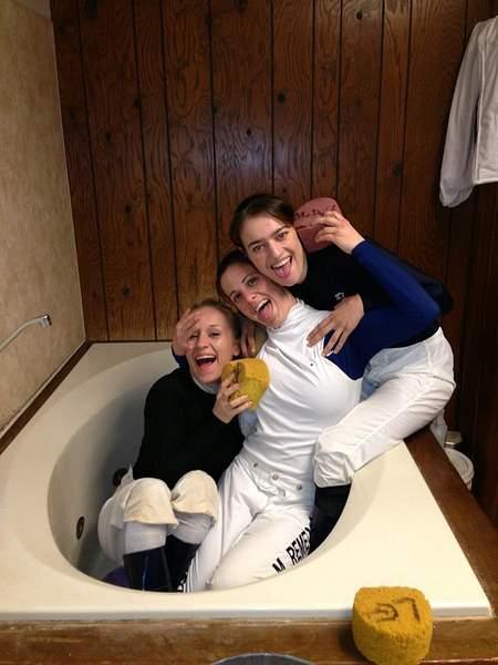 Maria with jockeys Shannon Uske and Jessica Rice