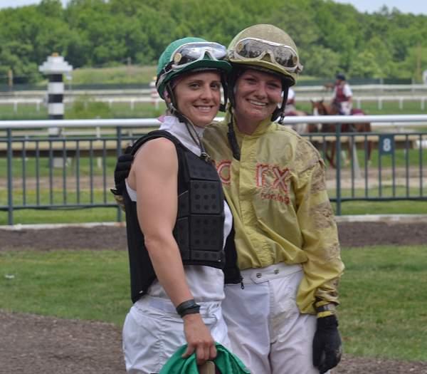 Maria and Jockey Amanda Auwarter