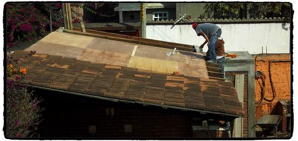 Plywood subroofing