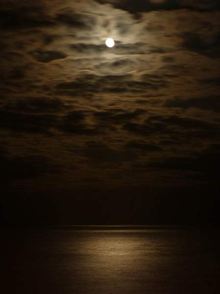 The Moon Over Eastbourne Beach (March 2013)
