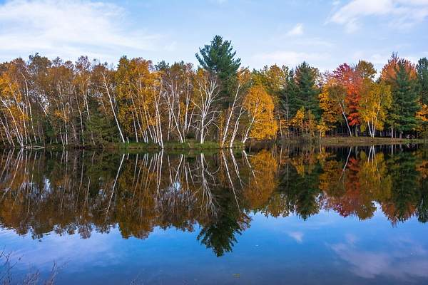 Fall Colors on Lake Gitchegumee
