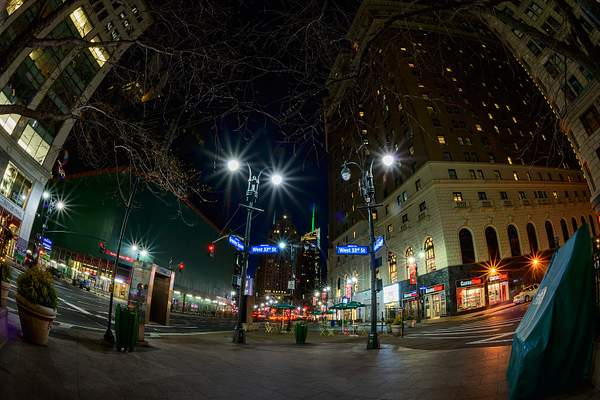 NYC-Fish-Eye-Night