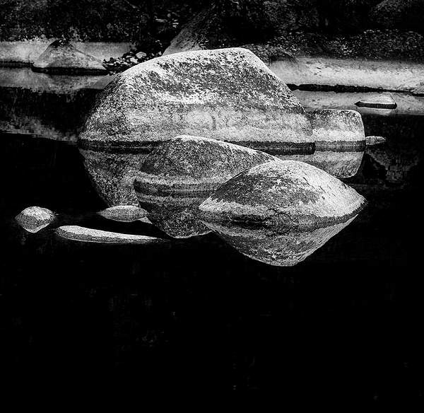Rocks at Quiet Spot b and w