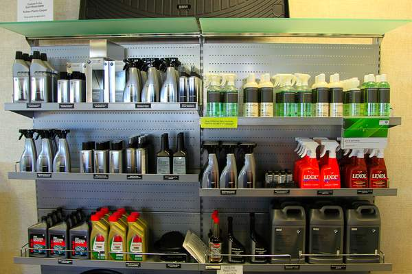 Fully Stocked chemical rack at BMW N. Scottsdale