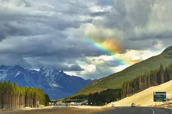 Rainbow Over Banff