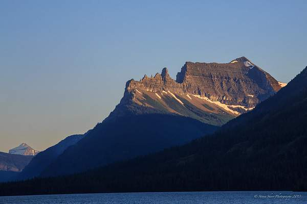 Sawtooth Mountain Waterton Lake