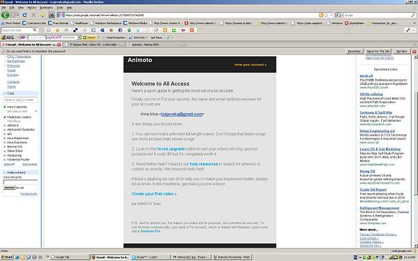 Animoto after upgrade to payment account