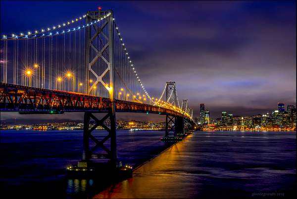 The Bay Bridge by Night
