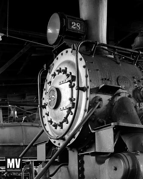 Engine #28 Face, Sierra Railway