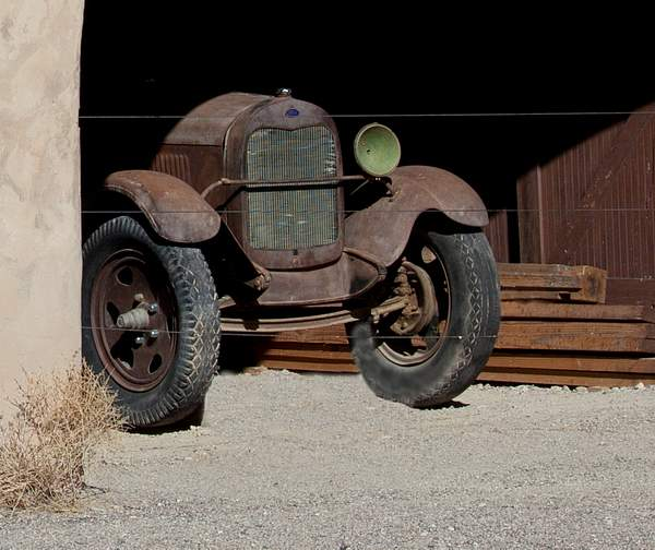 One eyed 29 Model A Dump Truck at Scotty's Castle