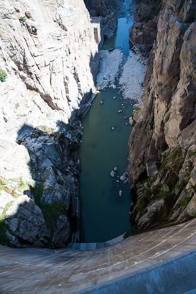 Looking down Wild Bill Cody Dam.jpg