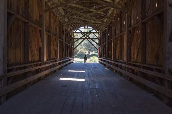 Inside of Tall Covered Brridge