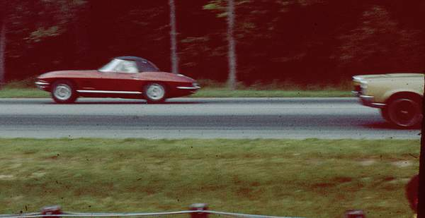 Corvette - Drag strip in Connecticuit in 1968