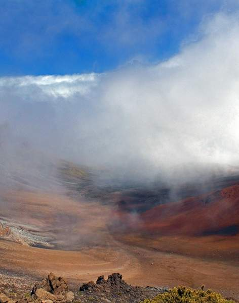 Clouds Atop Haleakala Volcano on Maui, Hawaii