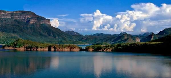 Huites Lake Panorama, Sinaloa, Mexico