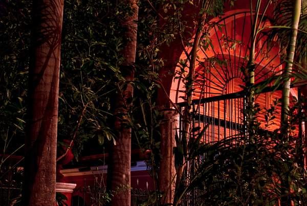 Tropic hacienda night in El Fuerte, Mexico