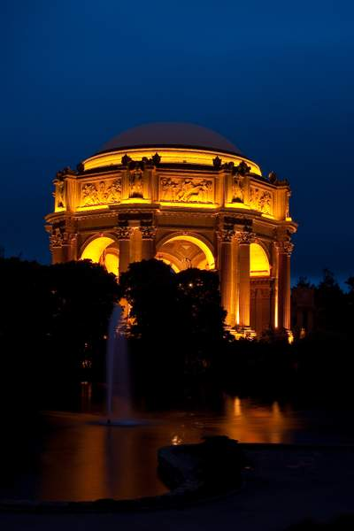 Palace of Fine Arts Rotunda @ Night