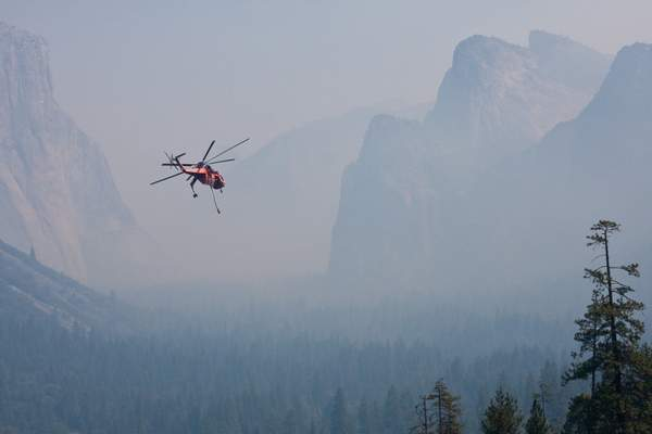 Helicopter Fighting Yosemite Fire