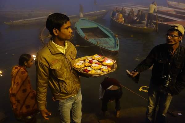 Selling Flowers, Varanasi, India