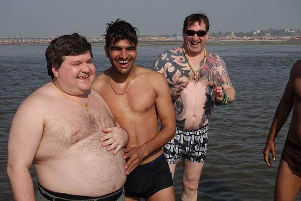 Wading in the Ganges