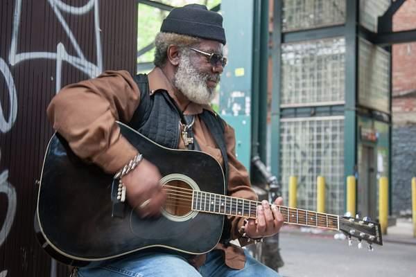 Street Musician, Williamsburg, Brooklyn