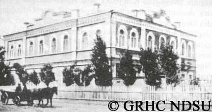 Central school in Orlovskoje, Volga region