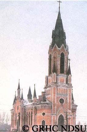 Catholic church in Bähr (Kamenka) - Volga Region