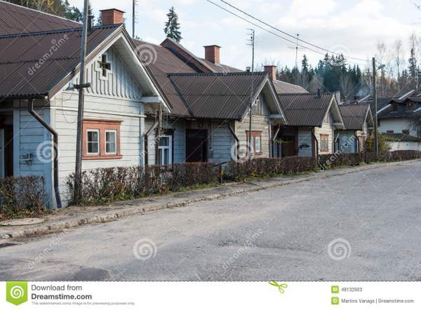 view-small-country-town-ligatne-latvia-village-scenes-48132903