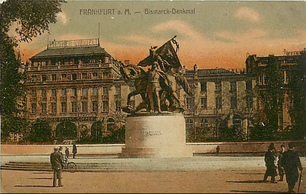 GERMANY-FRANKFURT-BISMARCK DENKMAL-MONUMENT-STATUE